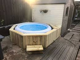 building a hot tub enclosure 60 best lay z spa garden setup ideas images on