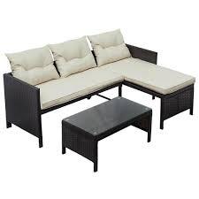 piece rattan outdoor furniture sofa set