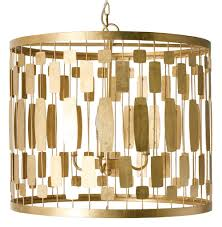 Riviera Hollywood Regency Gold Leaf 3 Light Chandelier Kathy Kuo Home