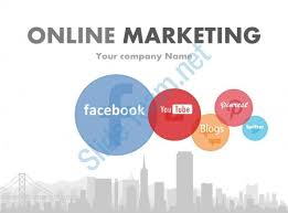 Social Media Focused Online Marketing Powerpoint Presentation With