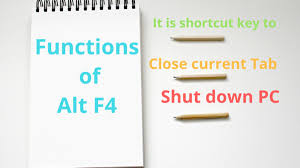 What Is The Use Of Alt F4 And Its Related Shortcuts?