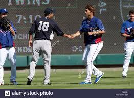 R-L) Yu Darvish (Rangers), Hiroki Kuroda (Yankees), Koji Uehara Stock Photo  - Alamy