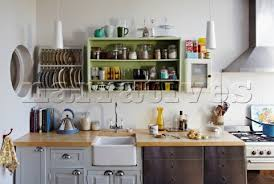 Kitchen Storage Racks on Wall Mounted Plate Rack And Storage Shelf In  Kitchen Of Brighton Home