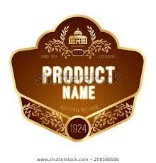 Label Design Free Label Design Stock Vector Royalty Free 258586586 Shutterstock