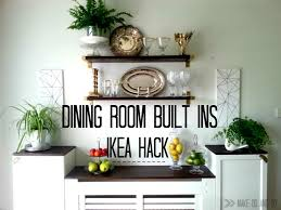 Diy Built In Storage Ikea Hack For Built In Dining Room Storagewhen You Have To Work