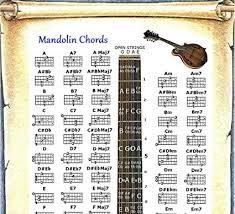 Amazon Com Mandolin Chords Poster Note Locator Chart