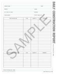 Construction Daily Report Sample Progress Word Template Project Form