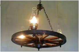 wagon wheel chandelier diy make