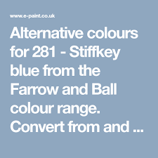 Ral To Pantone Conversion Chart Alternative Colours For 281 Stiffkey Blue From The Farrow