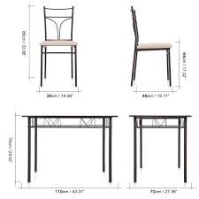 dining chairs set of 4. IKayaa 5PCS Modern Metal Frame Dining Kitchen Table Chairs Set For 4 Person Furniture 120kg Load Capacity Sales Online #2 - Tomtop Of