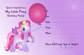 Small Picture My Little Pony Free Birthday Party Printables Delicate