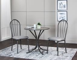 dining room table and chairs with wheels. Sunset Trading 3 Piece Steel Gray Dining Table Set Room And Chairs With Wheels