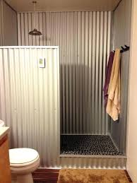 corrugated tin bathroom inexpensive shower wall ideas google search baths x walls how to clean galvanized shower walls