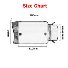 Muffler Size Chart Us 79 16 21 Off 60mm Universal Motorcycle Exhaust Muffler Titanium Alloy Austin Racing Exhaust For Bmw S1000rr Zx10r R6 R1 Rsv4 Cbr1000 Gsxr750 In