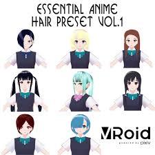 Vroidヘアプリセットvol1 Shin Itagaki Booth