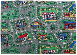 children s rug city roads play mat 100cm x 150cm