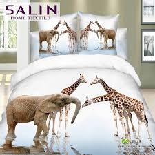 salin 3d animals bedding set home seagulls swan elephant giraffe duvet cover queen size bedclothes toddler bedding set navy blue duvet cover from inqing