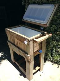 outdoor ice chest table wooden designs house ideas plans pl