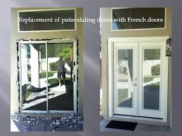 replace sliding glass door replacing patio sliding doors with french doors removing sliding glass door window