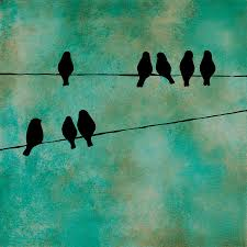birds on a wire painting birds on wire paintingjodi leigh