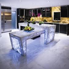 white quartz countertop semi precious modern