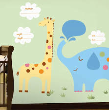 its a baby wall decals in a nursery