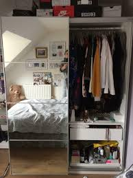 sold sold sold double wardrobe with mirror sliding doors