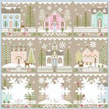Glitter Village Country Cottage Needleworks Cross Stitch Chart 2018 2019