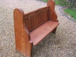 old pine church pew delivery poss also for longer