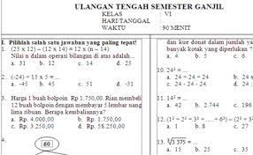 Preview soal uts kelas 4 matematika ktsp semester 1. Contoh Soal Matematika Kelas 4 Semester 2 Kurikulum 2013 Guru Galeri Cute766