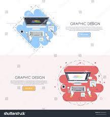 Logo Design Concept Presentation Graphic Design Concept Modern Thin Line Stock Vector