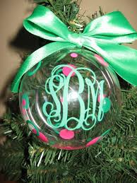 Personalized Monogram Christmas Ornament by VinyleYours on Etsy, $10.00