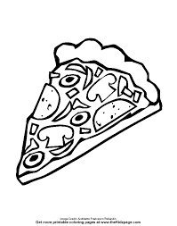 Small Picture Slice of Pizza Free Coloring Pages for Kids Printable