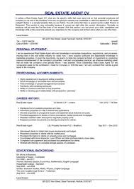 Estate Agent Cv Real Estate Agent Cv Great Sample Resume