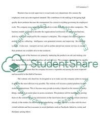 E Business Essay E Commerce Business Models And Concepts Essay Example