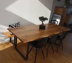 Esstisch Eiche Massivholzplatte Tisch Massivholz Baumkante In