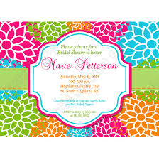 orange and turquoise wedding invitations. bridal shower flower burst printable invitation 5x7 hot pink lime green blue orange and turquoise wedding invitations