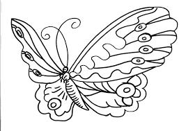 Una Farfalla Con Grandi Ali Disegno Da Colorare Per Bambini