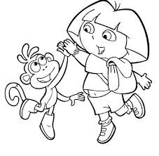 Small Picture Dora And Boots Coloring Page FunyColoring