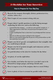 job interview preparation checklist livmoore tk job interview preparation checklist 24 04 2017