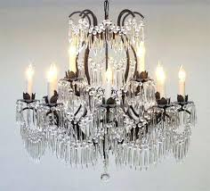 wrought iron crystal chandelier wrought iron crystal chandelier lighting x go u swarovski crystal trimmed black