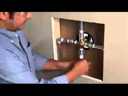installing a one handle posi temp shower valve ips to ips moen