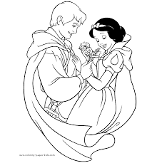Snow White And The Seven Dwarfs Coloring Pages Coloring Pages For