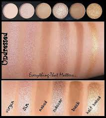 make up academy mua undressed palette review swatches eotd parison