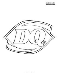 Card cover with fold out, express bullet point review hello my shoes. Dairy Queen Logo Coloring Page Super Fun Coloring
