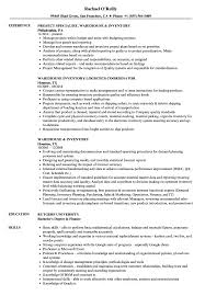 Warehouse Inventory Resume Samples Velvet Jobs