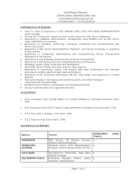 Informatica Sample Resume Best of Sunil Kumar Thumma Resume