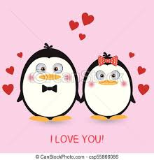 cute penguins in love. Interesting Love Lovely Couple Cute Penguins On A Pink Background Greeting Card Picture  For Tshirt Graphics Kids And Other Uses To Cute Penguins In Love M