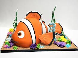 3d Sculpted Nemo Cake Birthday Cakes Nemo Cake Dory Cake