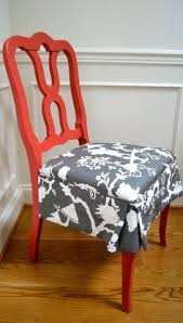bright red paint and white gray fabric brings that traditional chair up to date kitchen colors bar stools